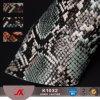 袋のための総合的な革のどの革を浮彫りにする卸し売りPVC Snakeskin