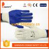 Ddsafety 2017 chaîne en polyester tricoté naturelles PVC bleu gant de travail