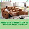 Recliner stabilito del sofà di cuoio sezionale arancione moderno di Divani