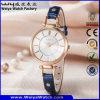 Montre de dames classique de quartz de courroie en cuir de service des douanes (Wy-063D)
