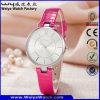 Wristwatch повелительниц кварца кожаный планки способа ODM вскользь (Wy-061C)