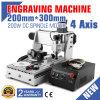 Engraver древесины маршрутизатора 3020 CNC с осью 4