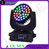 Viga principal móvil ULTRAVIOLETA de RGBWA 6in1 18W 36PCS LED