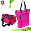 600d Pink Eco Polyester Foldable Tote Bag (XTFLY00083)