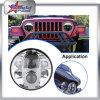 SUV를 위한 지프 트럭을%s 논쟁자 Jk 80W LED 헤드라이트, 콘테이너 트럭을%s 7 인치 헤드라이트