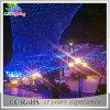 Bunter im Freienfeiertag LED-Nettolicht für Weihnachten hängend