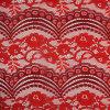 Lacet de tricotage bicolore d'enveloppe Allover de modèle de secteur et de fleur par la cour