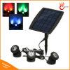 18 LEDs Solar Powered 3 lámparas Proyector de paisaje Luz de proyección para jardín Lawn Pool Pond Iluminación al aire libre subacuática