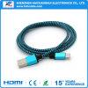 Tressé bleu 3.3FT AM au câble de données USB micro