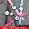 Reloj normal de cuero minimalista mini Relogio elegante Masculino de los pares de los hombres y de las mujeres del reloj de la personalidad creativa Vs-695