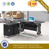 Scrivania calda del metallo e di vetro delle forniture di ufficio di vendita con la tastiera (NS-GD019)