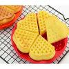 Molde Waffle de molde de bolo de silicone com forma de coração não tóxico quente