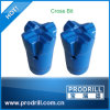 Tungstênio Carbide Inserted Tapered Cross Bit para Small Hole Drilling