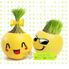 Minigarten Magic Cartoon Grass Hair und Head Toy Doll K002-1 (keramisch)