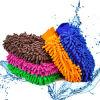 Внимательность автомобиля ткани перчатки/лапши мытья автомобиля Microfiber и очищая перчатка мытья синеля Microfiber