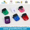 Manija de goma magnética del clip W/Black de los efectos de escritorio plásticos en los colores de Transulcent