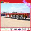 수송 20 '와 40 ' 콘테이너를 위한 반 40 발 Tripple 차축 편평한 침대 콘테이너 트럭 트레일러