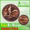 Fabrik gedenken die kundenspezifische Bronze, die Metallgoldmünzen stempelt