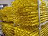 De gele Geschilderde Algemene Norm van de Steiger voor Bouwmaterialen