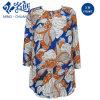 La Flower&Plants-Configuration ronde de collier de Long-Chemise colorée a plissé la robe desserrée élastique de dames