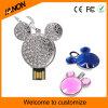 Vara de cristal do USB da jóia da movimentação do flash do USB dos desenhos animados