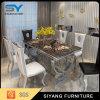 Tabela de jantar de aço Home da cadeira de tabela do jantar da tabela do mármore da mobília