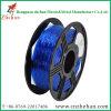 Varilla de plástico de 3 mm flexible impresora 3D de filamentos de color azul