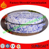 Pintado a mano Color personalizado 45 * 34 * 18cm Cojín Dimensional Cookware Esmalte Roaster Pan