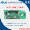Carte décodeur MP3 USB SD 5V / 12V avec Bluetooth (G001)
