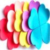 Forme de fleur personnalisé Lanière plastique PVC Coaster fabricant de la carte de la courroie