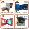 7  LCDビジネスパンフレットのビデオ挨拶状のハードカバー