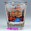 De Druk Shotglass van de herinnering met Beeld Ontsproten Glas