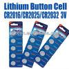 pile sèche de bouton de lithium de 3V Cr2032
