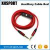 Вспомогательный стерео вспомогательный тональнозвуковой кабель с переключателем дистанционного управления