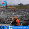 Conexão do parafuso da estrutura de aço do Workshop da estrutura de serrilha de espaço
