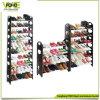 Hauptorganisator-Halter-konzipiert das entfernbare preiswerte 2 Schicht-Schwarze Imple Schuh-Speicher-Zahnstange