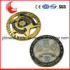 Kundenspezifische hohle Art-Überzug-Goldmilitär-Herausforderungs-Münze