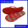 Дамы PE обувь с красивым печать цветов (15I079)