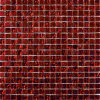 Het in het groot Mozaïek van het Glas van het Kristal van de Rode Kleur voor Badkamers