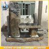 Banco di pietra del cimitero di disegno di angelo del basalto