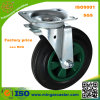 Dustbin 160mm Heavy Duty Black Rubber Castor Wheel