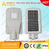 2018 Nuevo diseño todo en uno / Luz de calle solar integrada 160lm/W 3030 chips LED
