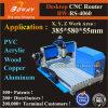 CNC de madera de cobre de aluminio de las fresadoras de la encaminamiento de la carpintería del metal suave de acrílico del PWB del PVC