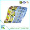 Escritura de la etiqueta de la etiqueta engomada de la impresión del papel del lustre con el embalaje del rodillo