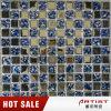 Mosaico di cristallo di vetro di metallizzazione della priorità bassa di arte del mosaico di colore blu
