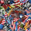 Kingtop 0.5m Wide Flag Design Cartoon Liquid Image Film Hydro Dipping Water Transfer Printing Film hydrographique Wdf993