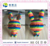 Colorful Rainbow Happy Plush Rabbit Stuffed Toy Baby Doll