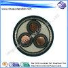 Gaine en PVC avec isolation XLPE Multi-Cores acier mince fil blindé Câble d'alimentation de tension moyenne