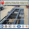 3 des essieux 20FT de conteneur de col de cygne de squelette remorque semi sur la promotion