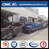 Cimc Huajun Hydraulic Gooseneck 3axle Lowbed Semi Trailer
